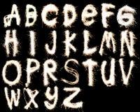 Alphabet de feux d'artifice images libres de droits