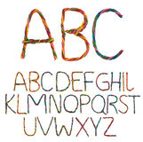 Alphabet de fil Image libre de droits