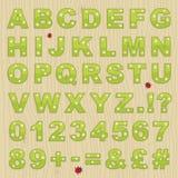 Alphabet de fleur Photographie stock