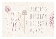 Alphabet de fleur de trèfle Photographie stock libre de droits