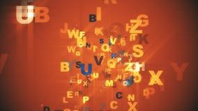 Alphabet de fond abstrait Photos stock