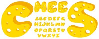 Alphabet de fromage illustration de vecteur