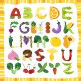 Alphabet de fruit illustration libre de droits