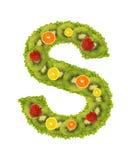 Alphabet de fruit - S Photo stock