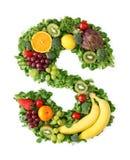 Alphabet de fruits et légumes photographie stock