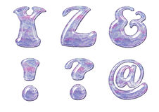 Alphabet de gel Images stock