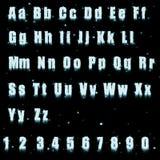 Alphabet de glace Images libres de droits