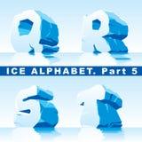 Alphabet de glace. Partie Photos libres de droits