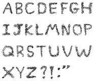 Alphabet de griffonnage Image stock