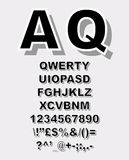 Alphabet de griffonnage avec l'effet de croquis de stylo Photo libre de droits