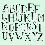 Alphabet de griffonnage de vecteur Photographie stock libre de droits
