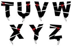 Alphabet de grunge de Veille de la toussaint Image stock