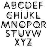 Alphabet de Halloween avec la toile d'araignée Image stock