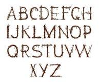 Alphabet de jardin Photos libres de droits