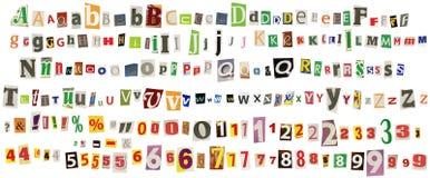 Alphabet de journal Photo libre de droits