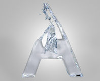 Alphabet de l'eau Images stock