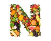 Alphabet de la santé - N Image libre de droits