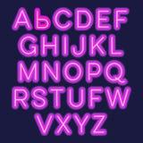 Alphabet de lampes au néon illustration de vecteur