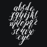 Alphabet de lettrage de brosse de craie Photo libre de droits
