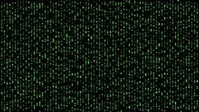 Alphabet de matrice de Digital tombant vers le bas vert illustration stock