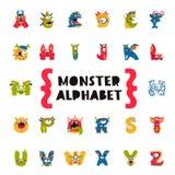 Alphabet de monstre Concept de l'amorce illustration libre de droits