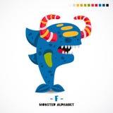 Alphabet de monstre Lettre f illustration libre de droits