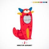 Alphabet de monstre Lettre J illustration stock