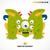 Alphabet de monstre Lettre M illustration de vecteur