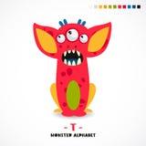Alphabet de monstre Lettre T illustration de vecteur