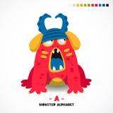 Alphabet de monstre Marquez avec des lettres A Photos stock