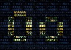 Alphabet de mur de bureau Photo stock