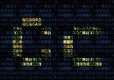 Alphabet de mur de bureau Image libre de droits