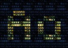 Alphabet de mur de bureau Images stock