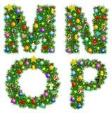 Alphabet de Noël Photographie stock