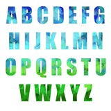 Alphabet de Pâques Photo libre de droits