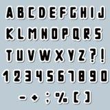 Alphabet de papier Images libres de droits