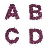 Alphabet de pochoir de cosmétique photos stock