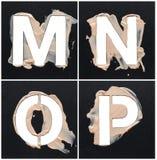 Alphabet de pochoir de cosmétique photographie stock libre de droits