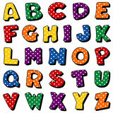 Alphabet de point de polka Image libre de droits