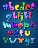 Alphabet de pétillement minuscule Images libres de droits