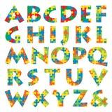 Alphabet de puzzle Image libre de droits
