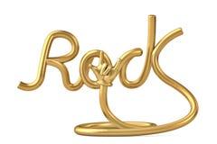 Alphabet de roche de forme de tube avec la main d'or illustration 3D illustration stock