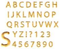 Alphabet de sable illustration stock
