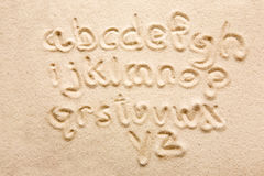 Alphabet de sable Photographie stock libre de droits