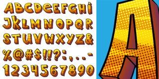 Alphabet de style d'art de bruit illustration libre de droits