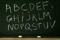 Alphabet de tableau noir Photo libre de droits