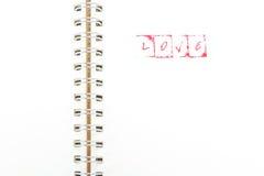 Alphabet de timbre avec le mot AMOUR Photo libre de droits