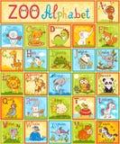 Alphabet de vecteur avec des animaux Images libres de droits