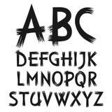 Alphabet de vecteur de peinture dessinée par lettres illustration stock