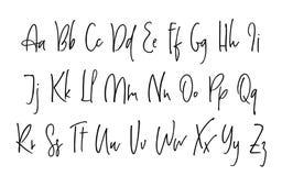 Alphabet de vecteur de lettrage de Ballpen Illustration Libre de Droits
